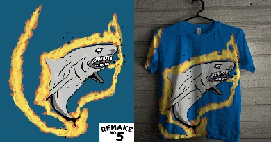 Burning Shark