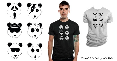 The many faces of panda bear