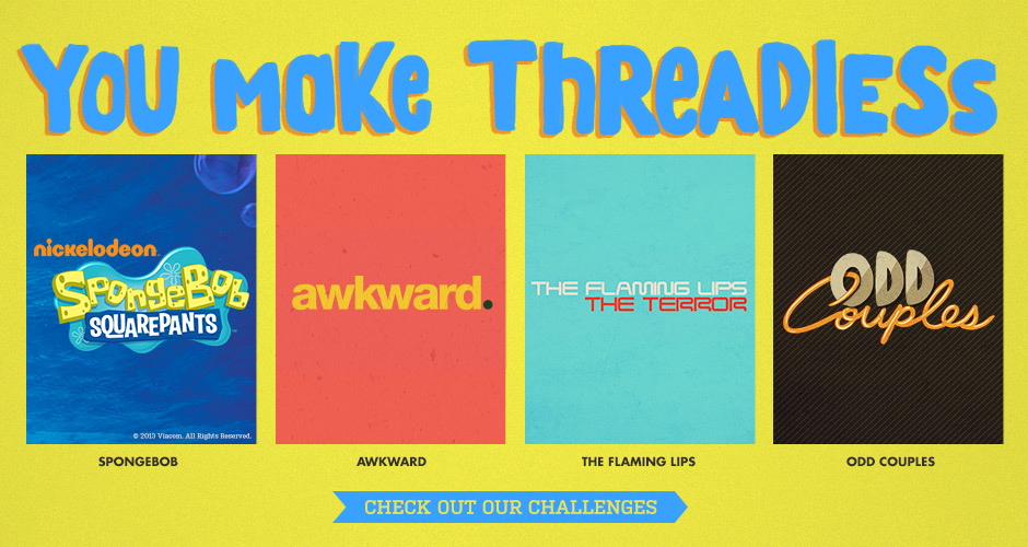 Submit to Threadless Design Challenges
