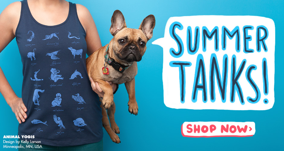 Shop Threadless Tank Tops - Animal Yogis by Kellabell9