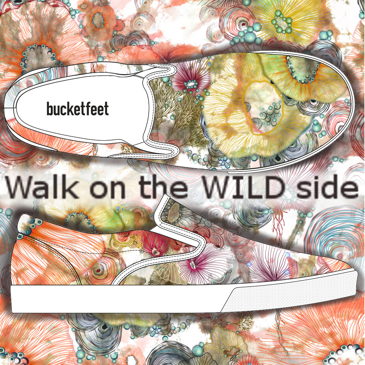 Walk on the wild side, a cool t-shirt design