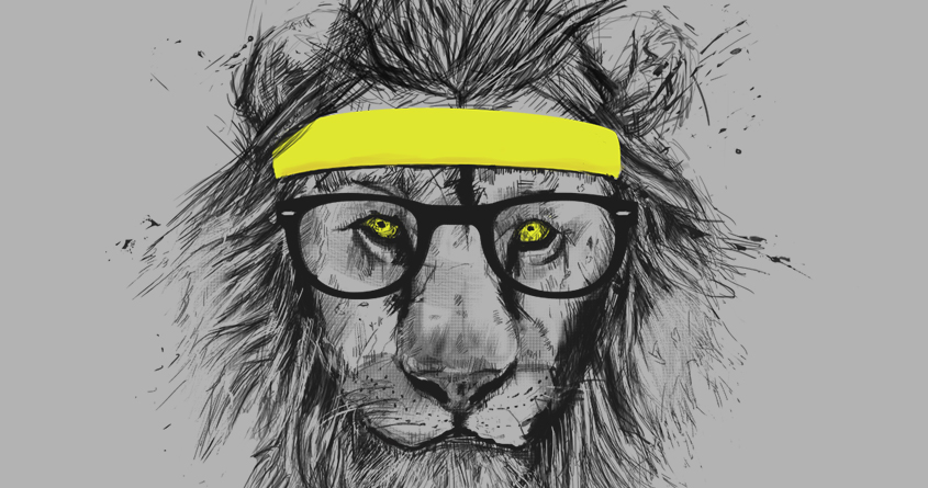 Lion hipster - photo#20