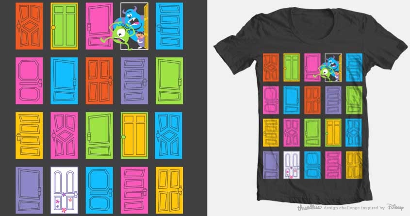 It is a photo of Slobbery Monsters Inc Door Printables