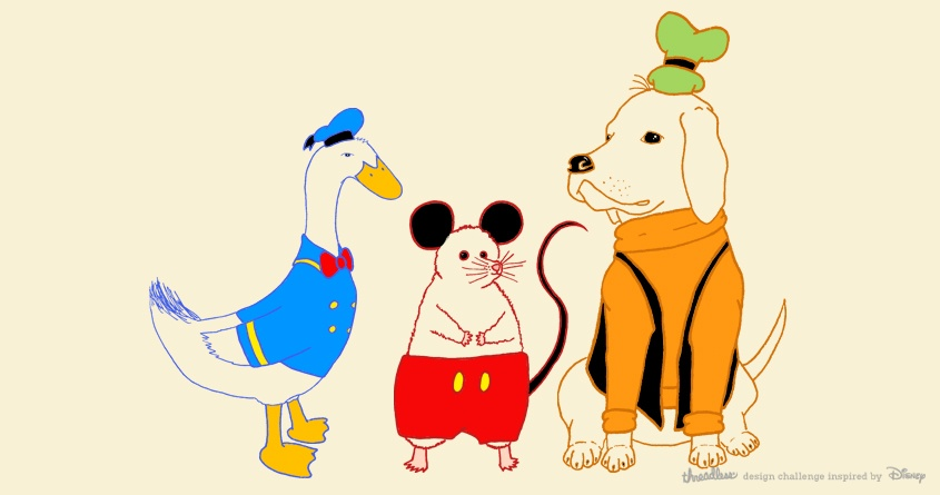 Mouse, Duck, and Dog!