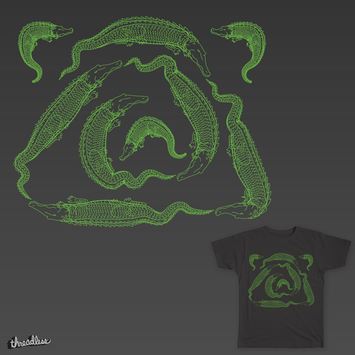 Crocodile Waltz, a cool t-shirt design