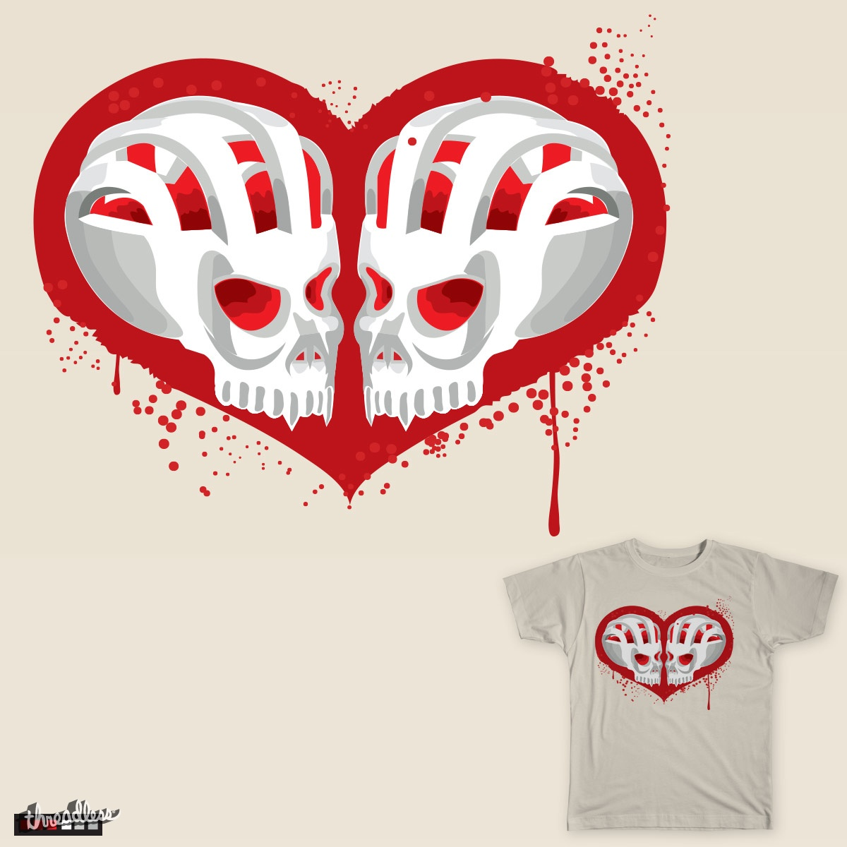 Love Skulls, a cool t-shirt design