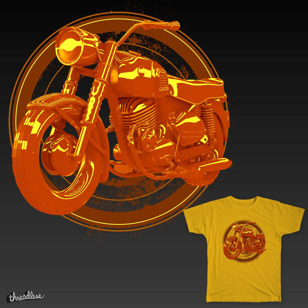 Brown Motorcycle, a cool t-shirt design