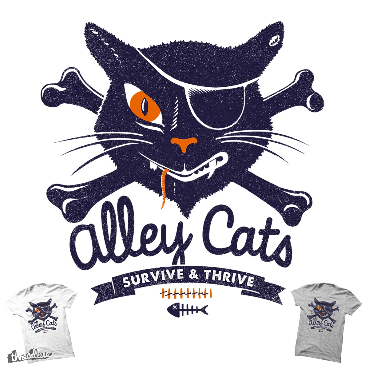 Alley Cats, a cool t-shirt design