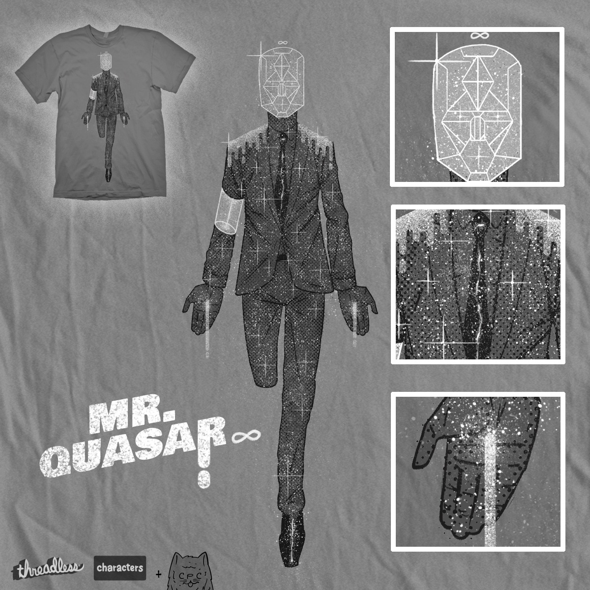 mr. quasar , a cool t-shirt design