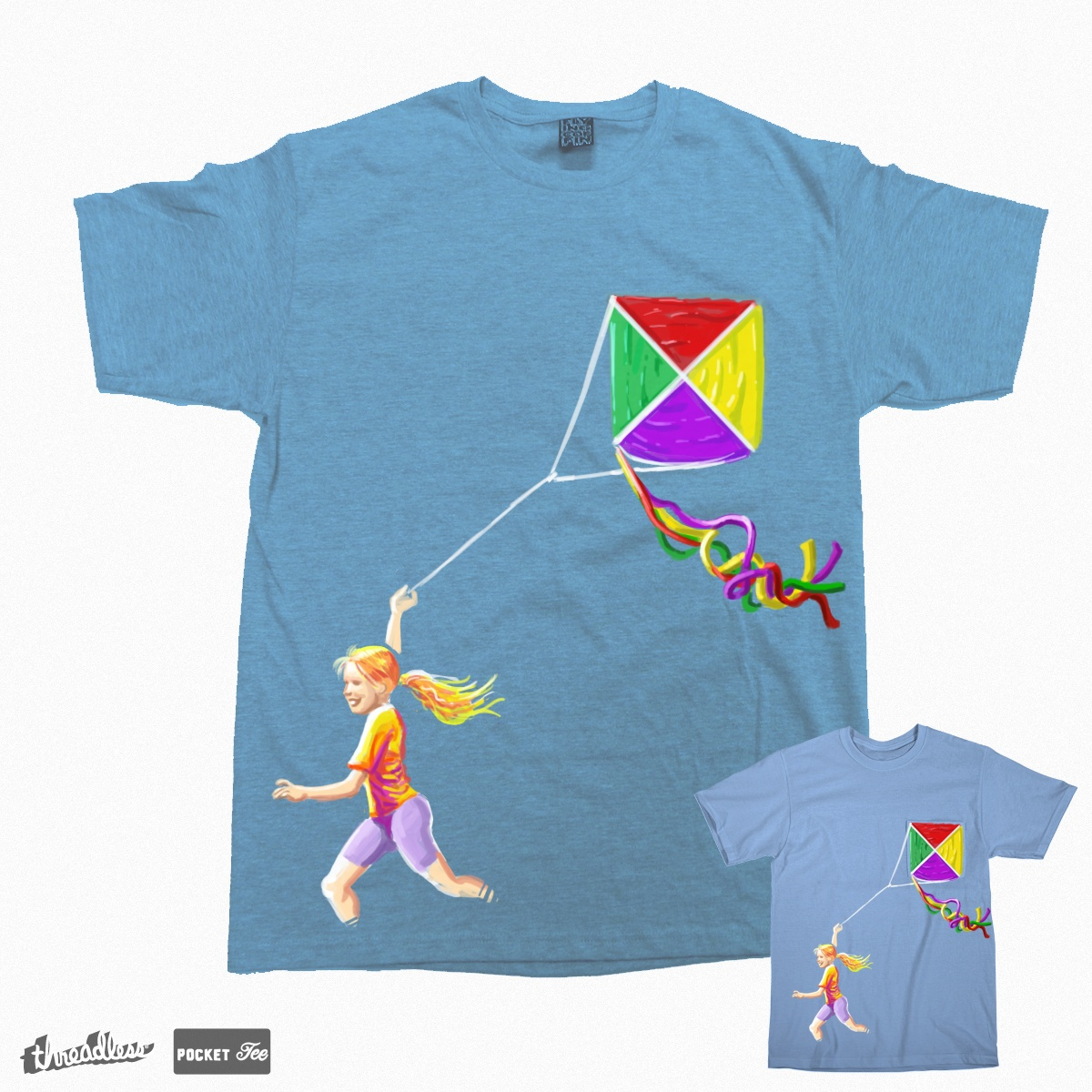 KITE POCKET, a cool t-shirt design