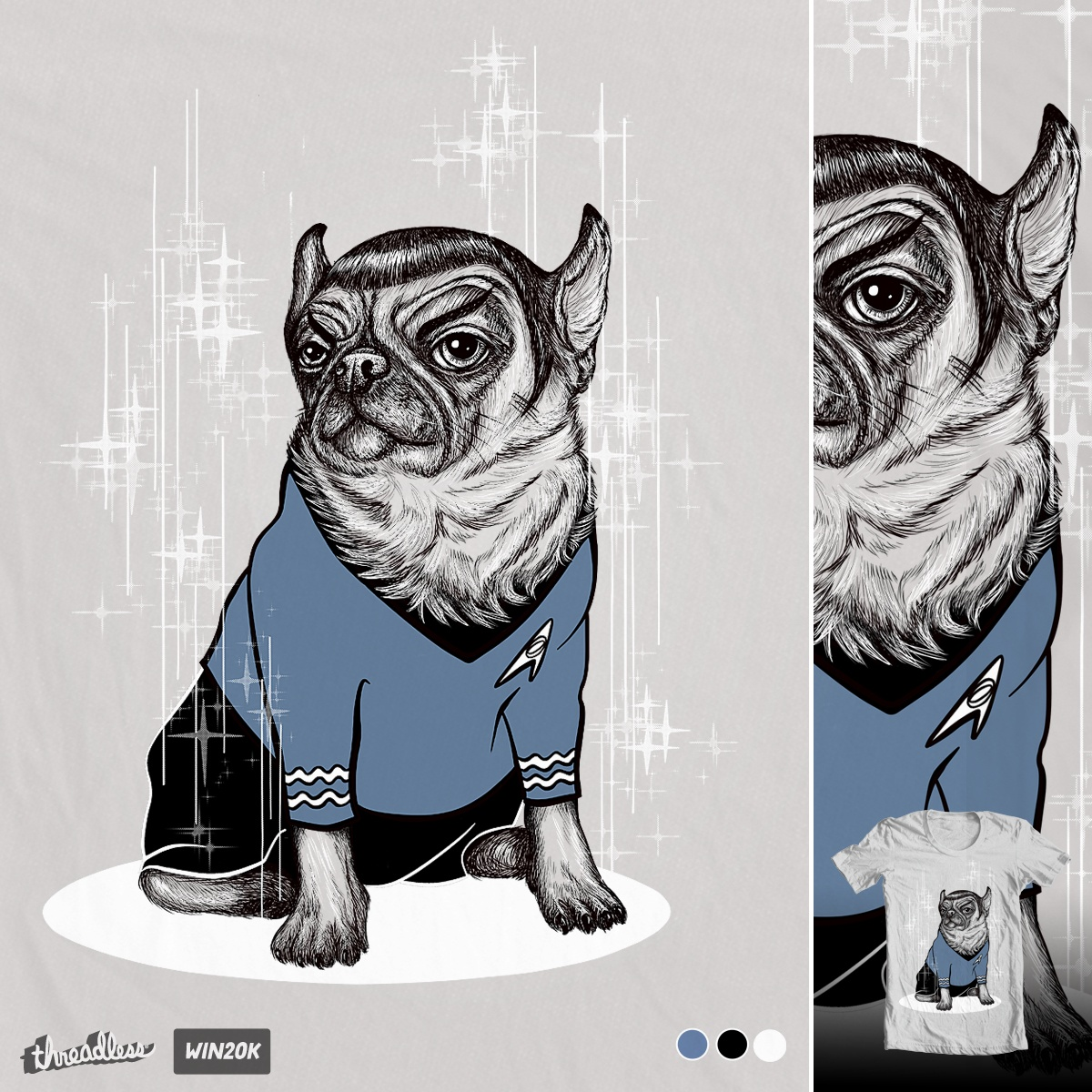 Spug, a cool t-shirt design