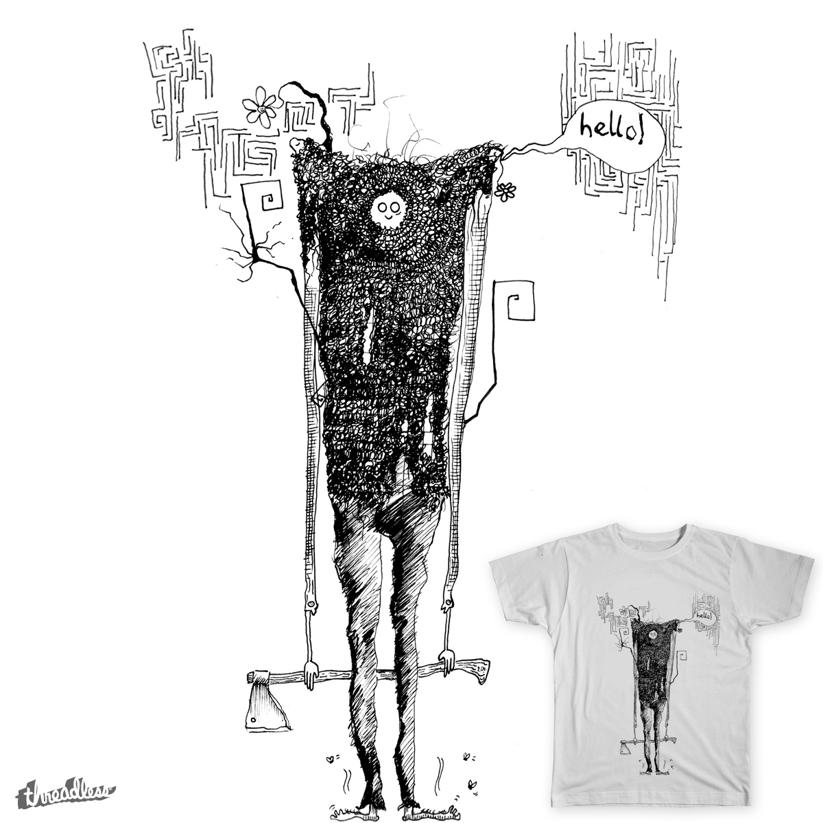 Melodramatic Maniac, a cool t-shirt design