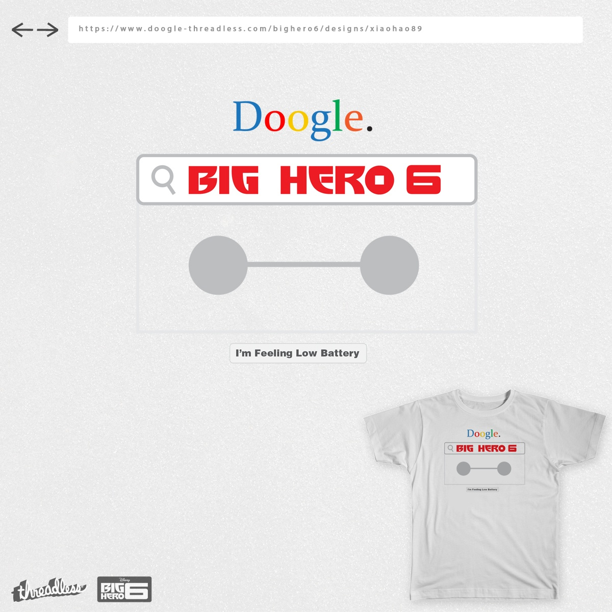 Search Baymax, a cool t-shirt design