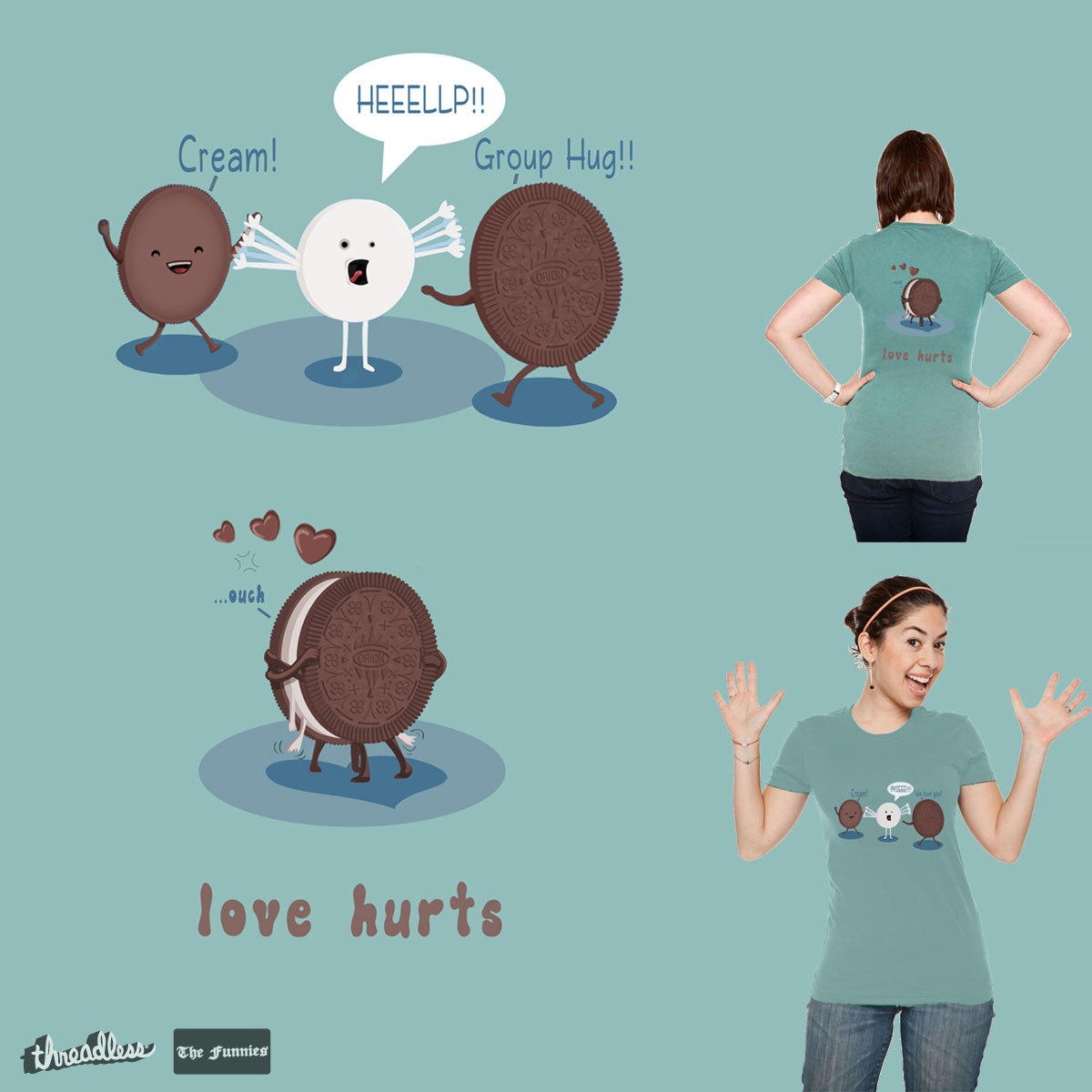Love Hurts, a cool t-shirt design