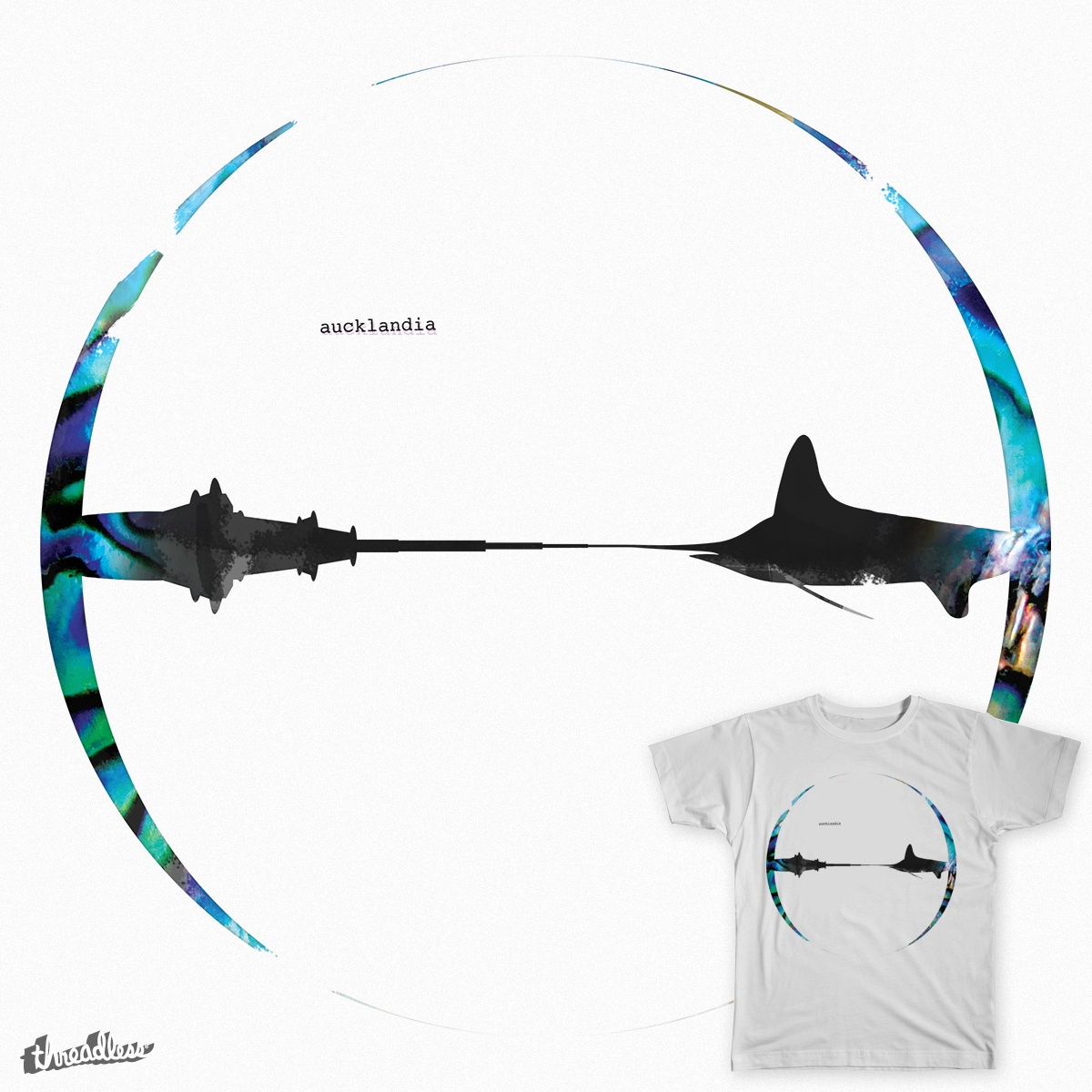 Aucklandia, a cool t-shirt design