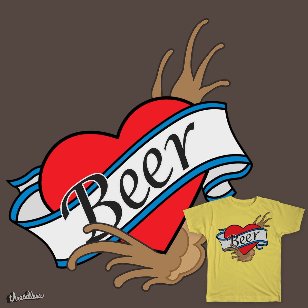 BEER BEER BEER, a cool t-shirt design