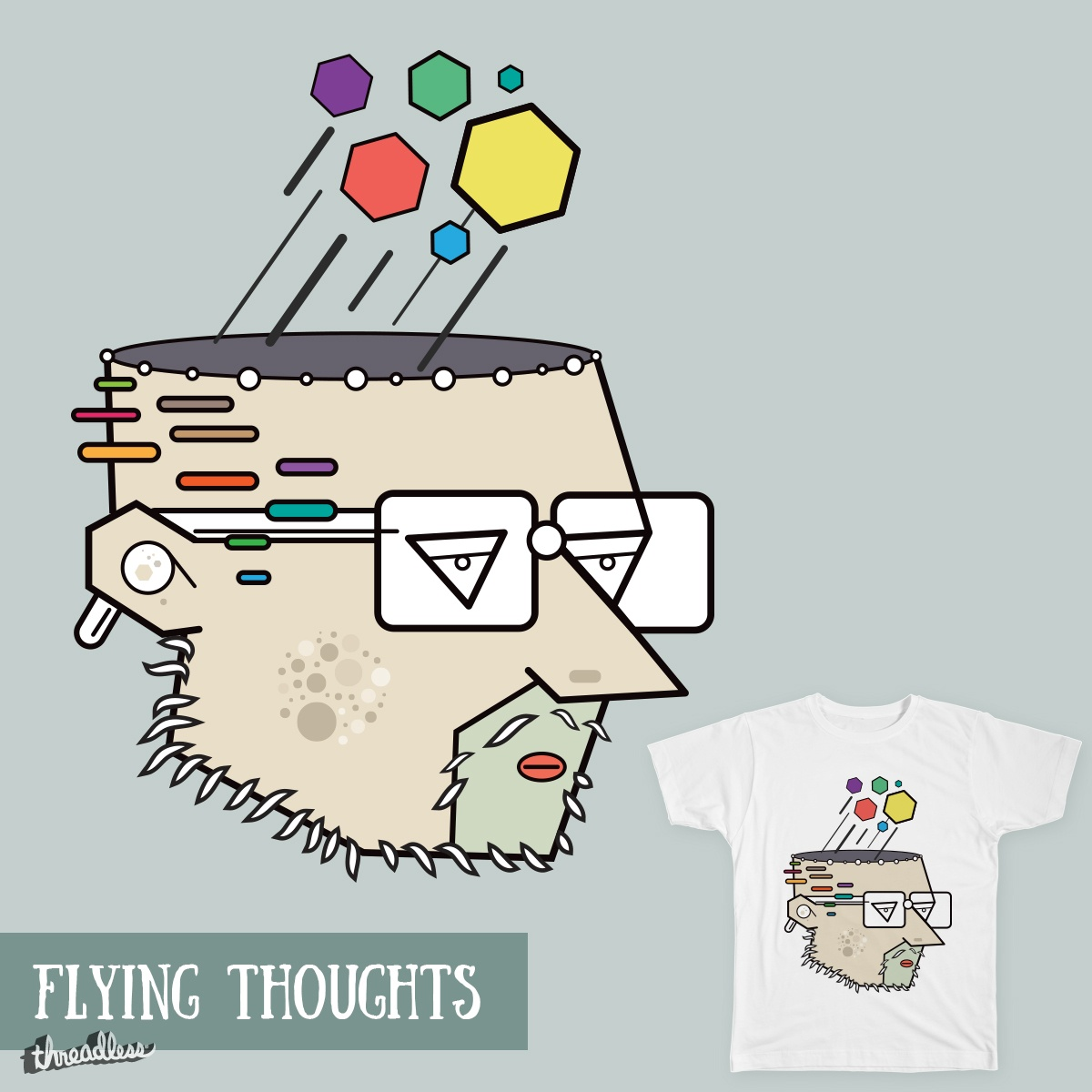 Flying Thoughts, a cool t-shirt design