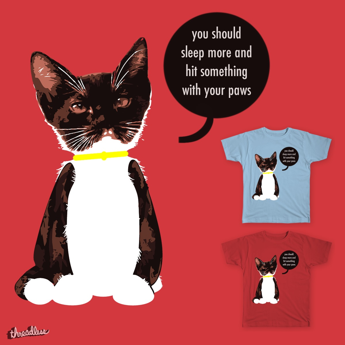 Cat Words of Wisdom, a cool t-shirt design