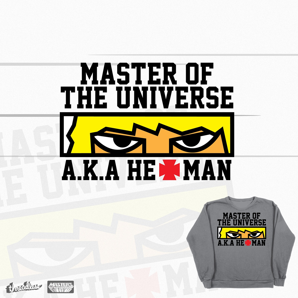 HE-MAN Goes College!, a cool t-shirt design