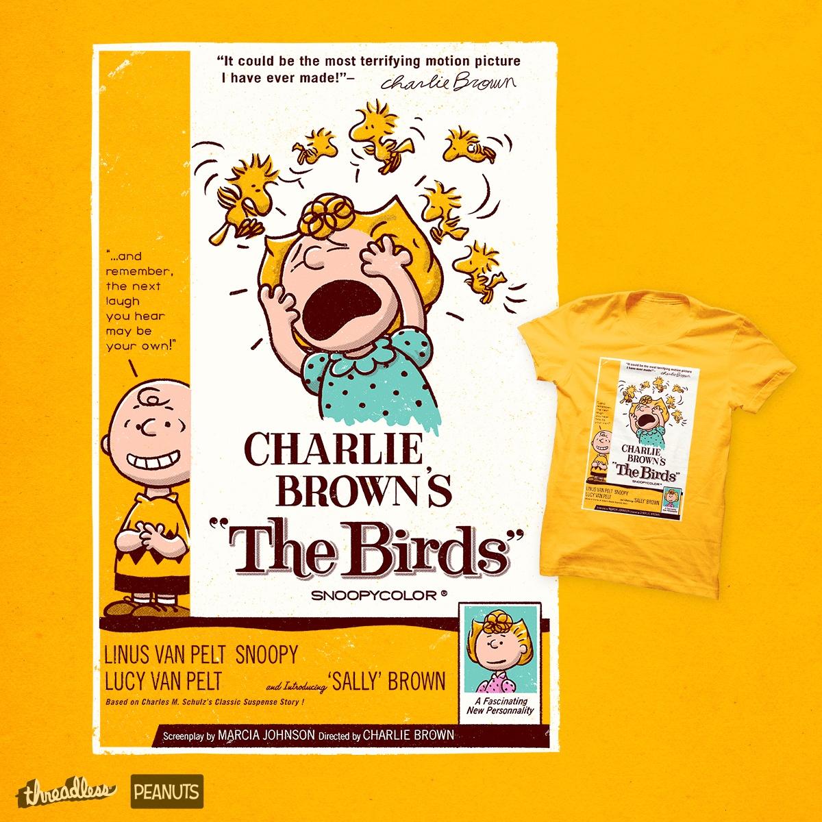 The Birds, a cool t-shirt design