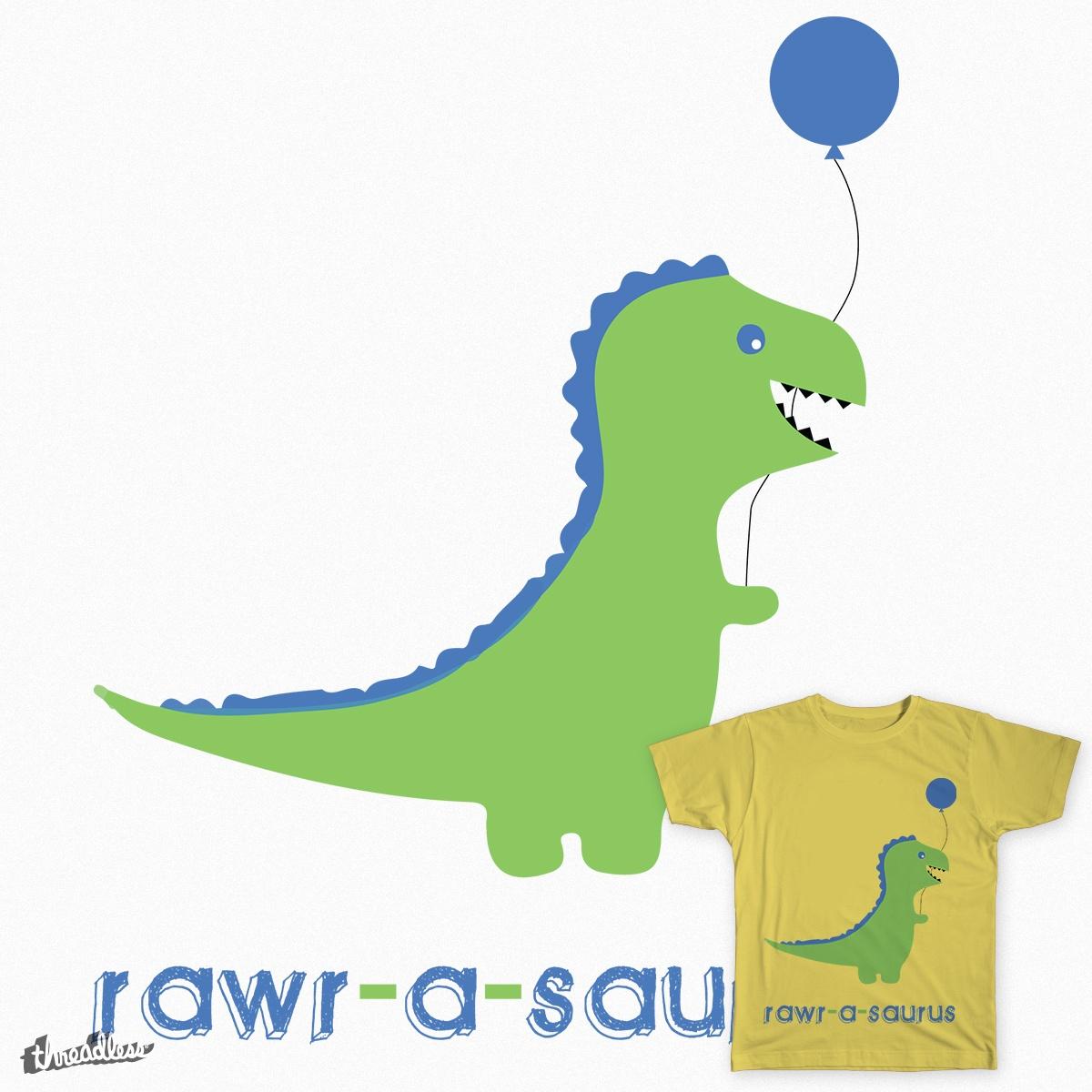 RAWR-A-SAURUS, a cool t-shirt design
