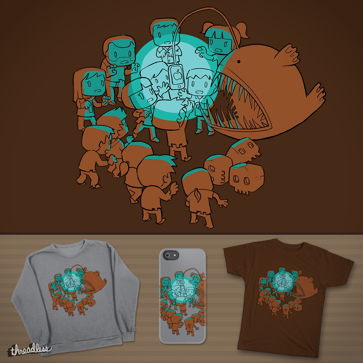 Luminous Lure, a cool t-shirt design