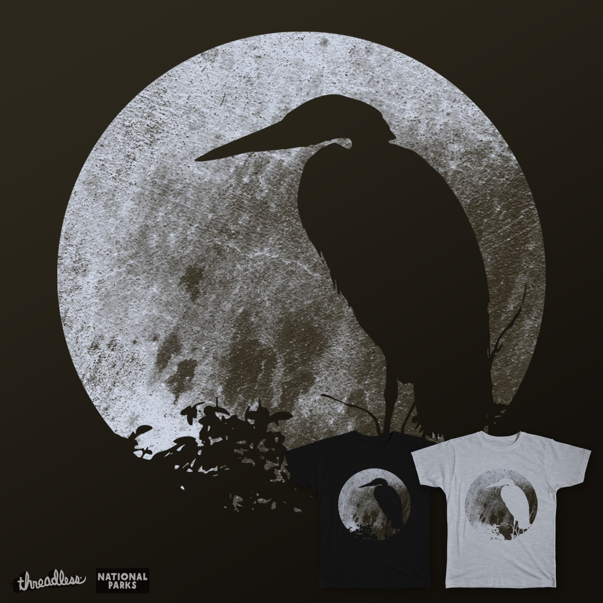 Great Blue Moon, a cool t-shirt design