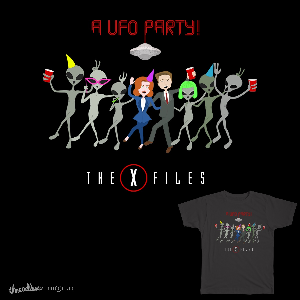 A UFO Party!, a cool t-shirt design