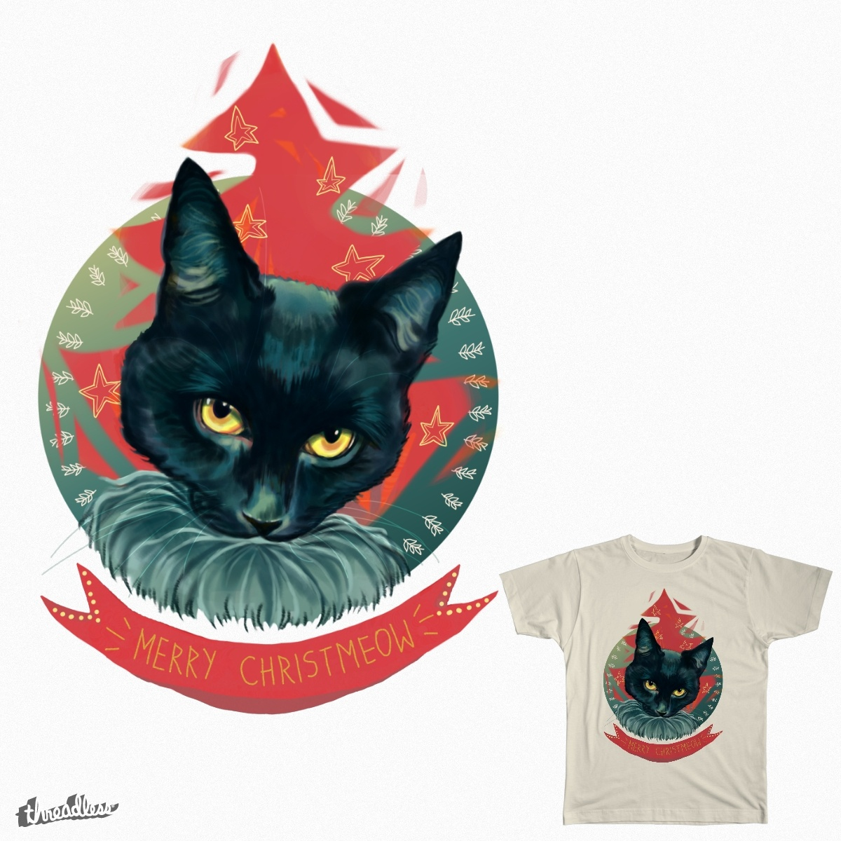 Merry Christmeow , a cool t-shirt design