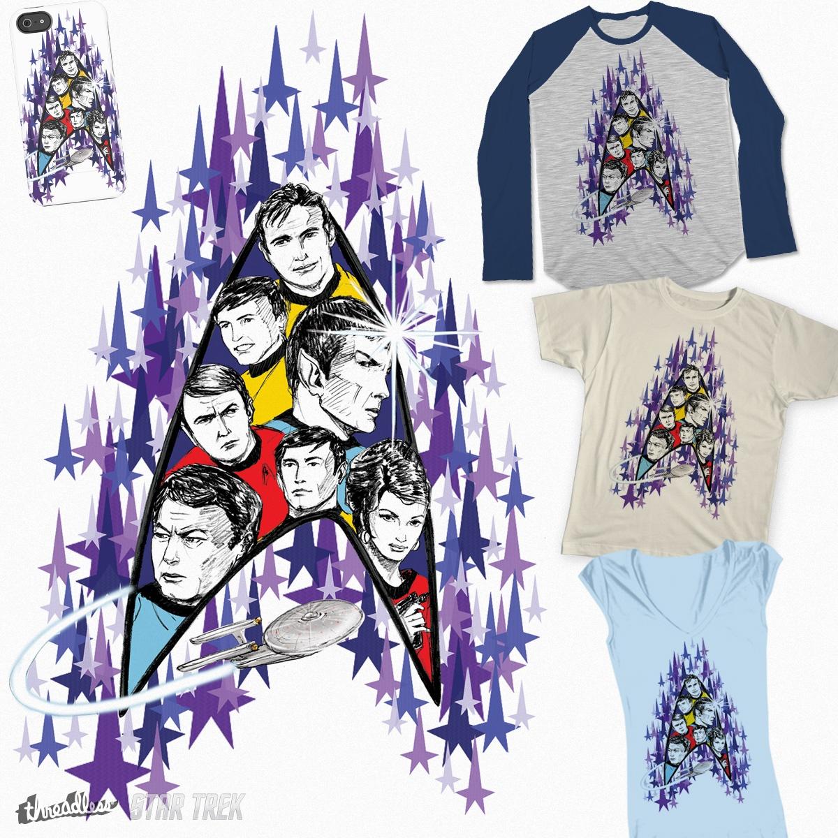 Star Trek Crew and Fleet, a cool t-shirt design