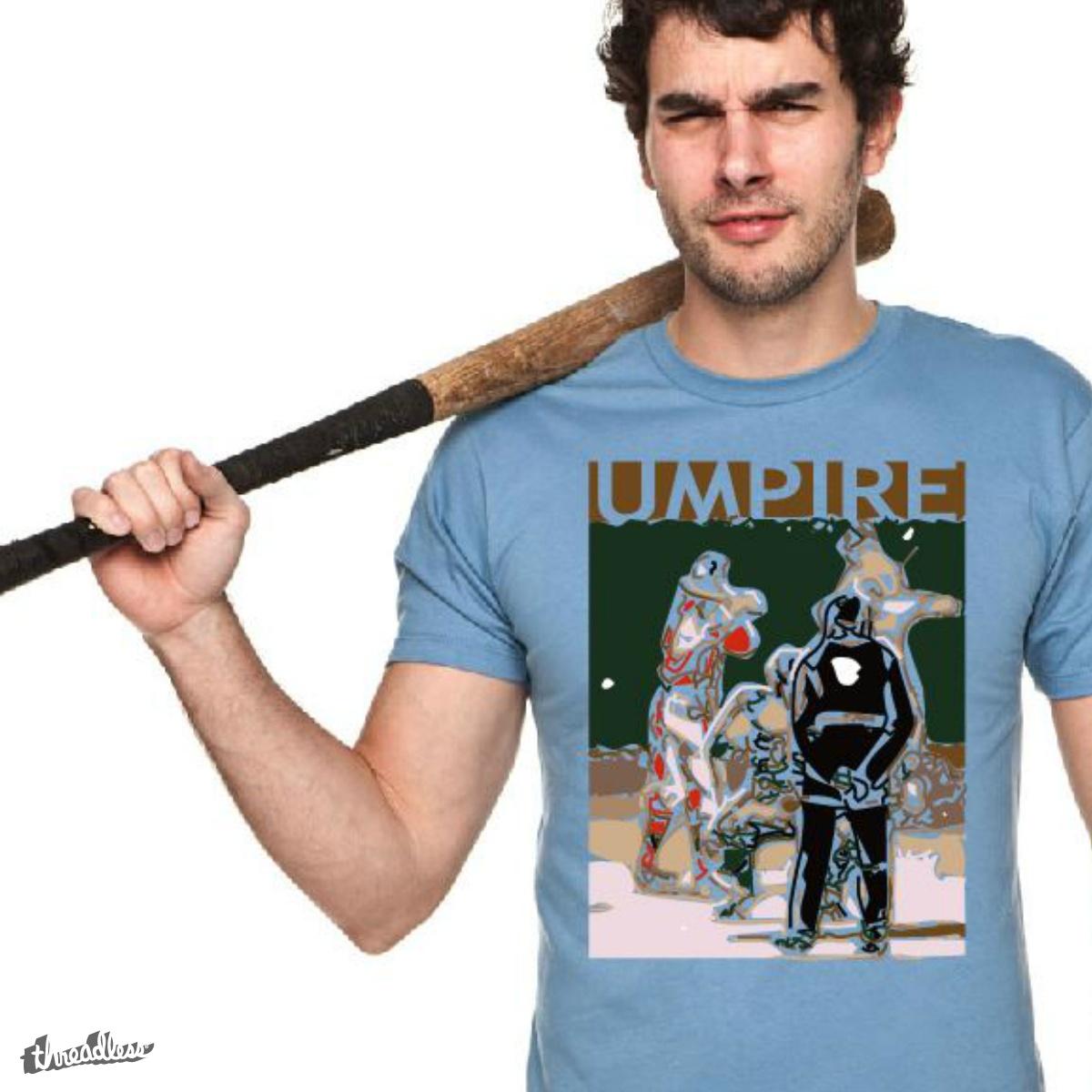 Umpire, a cool t-shirt design