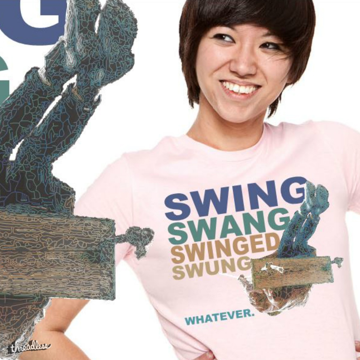 Swing Swang Swinged Swung... Whatever., a cool t-shirt design