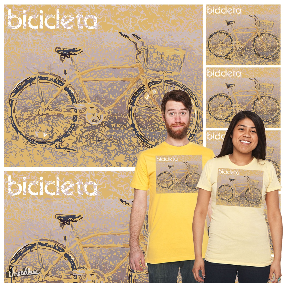 Bicicleta (Bicycle), a cool t-shirt design