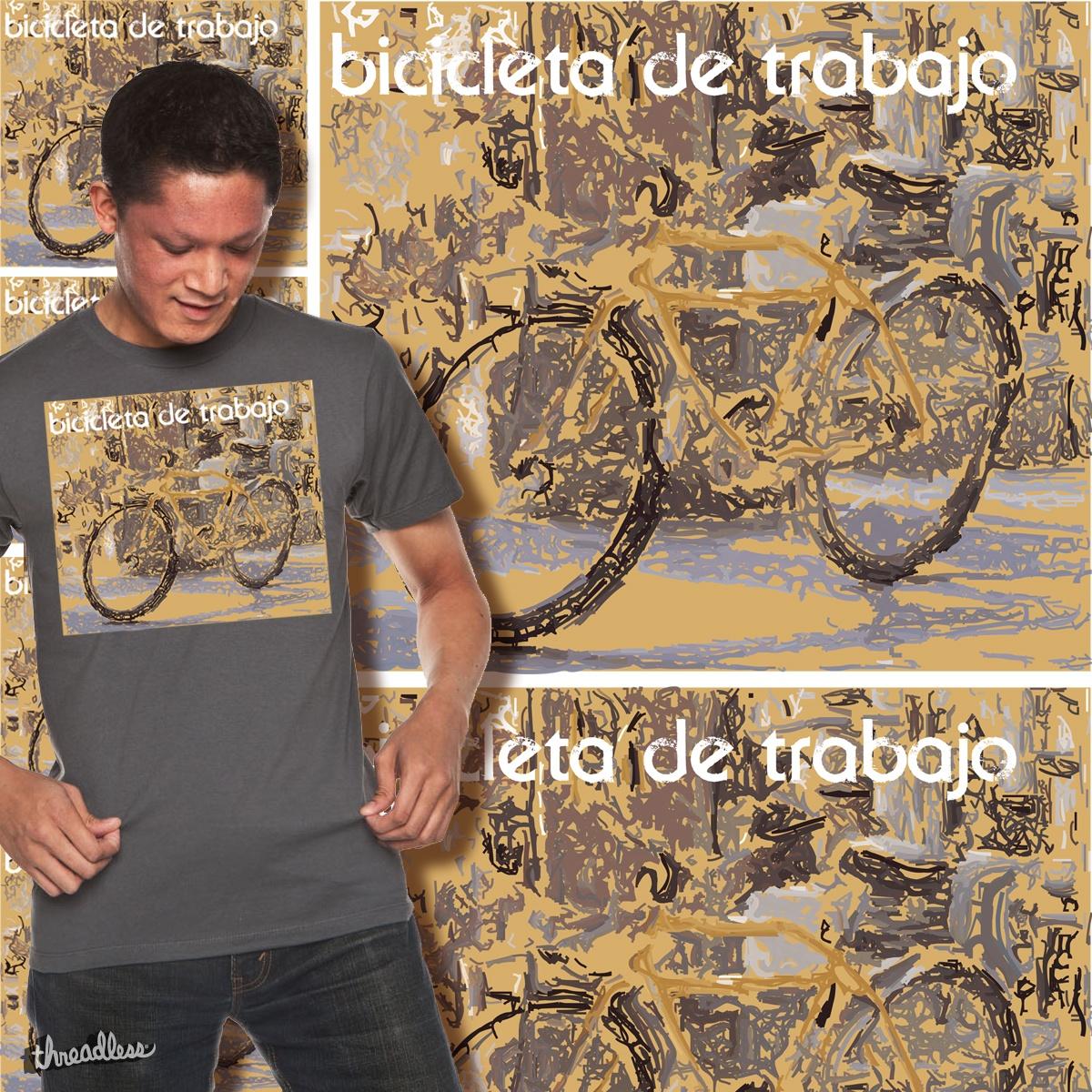 Bicicleta de Trabajo (Working Bicycle), a cool t-shirt design