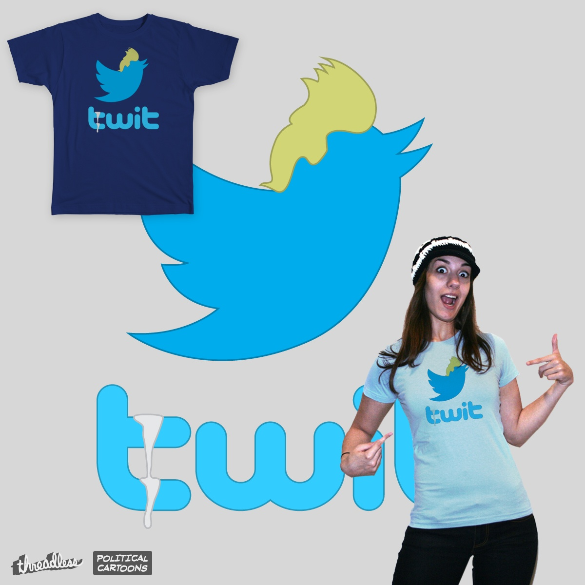 Twit, a cool t-shirt design