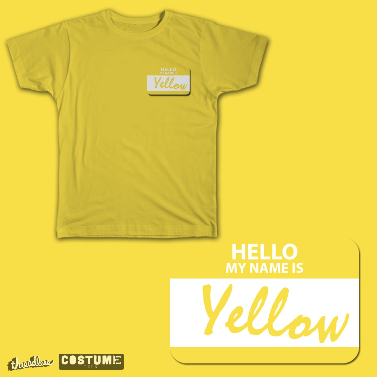 Yellow, a cool t-shirt design