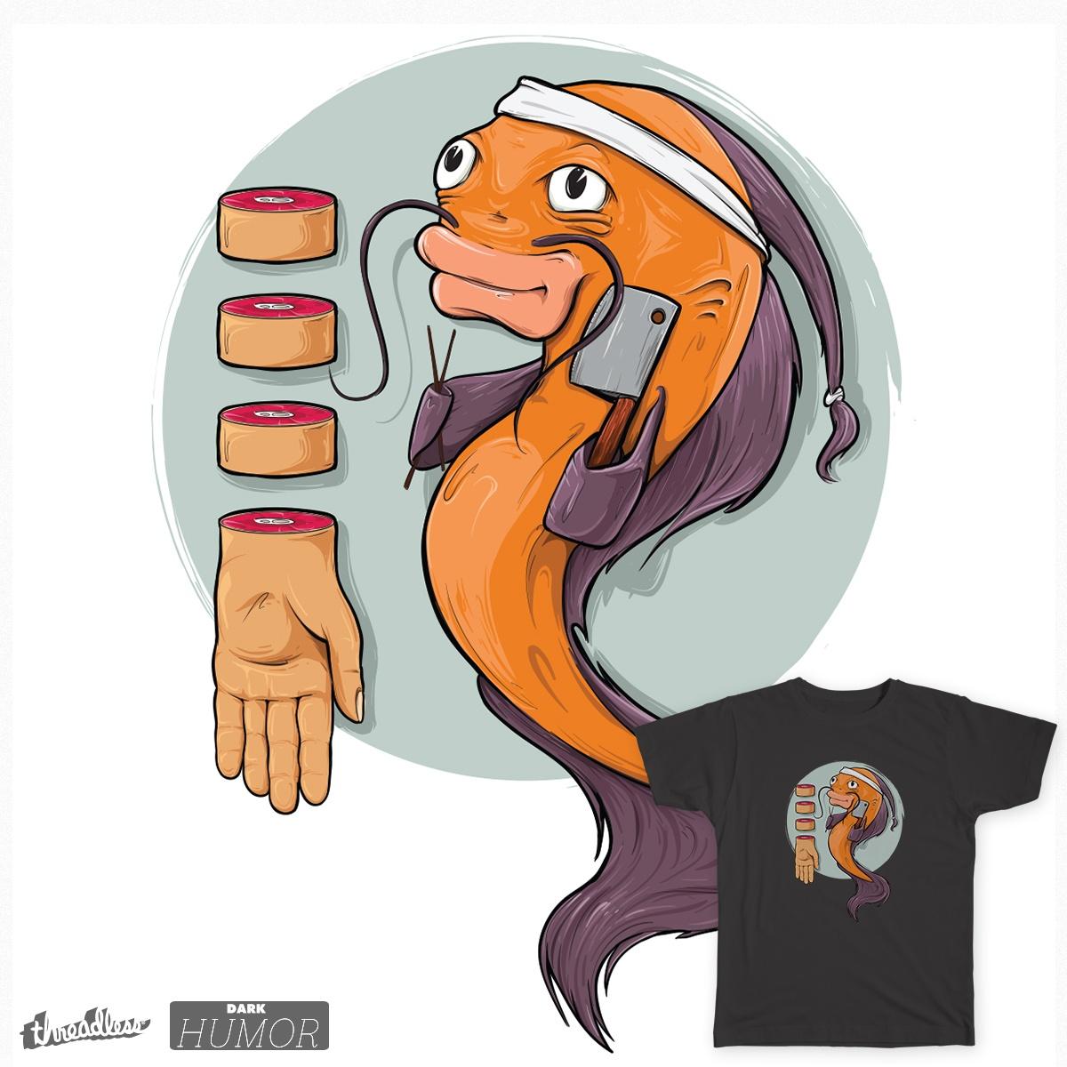 Human Sushi, a cool t-shirt design