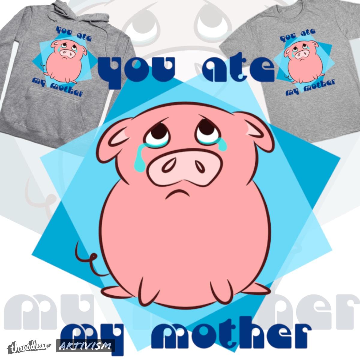 Sad piggy, a cool t-shirt design