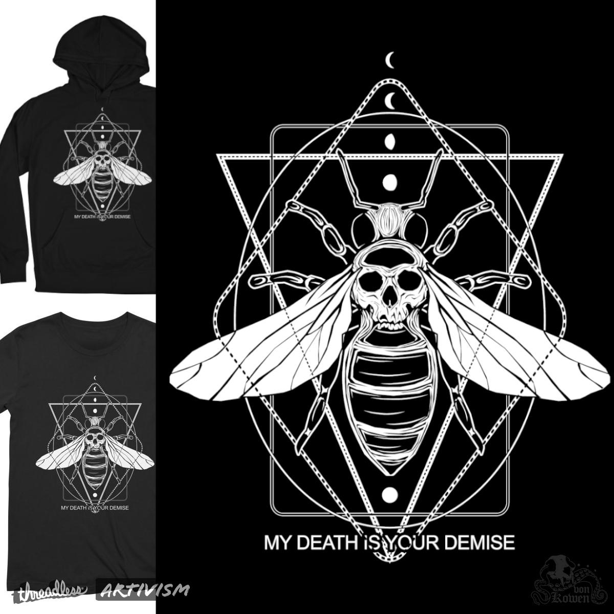 Killer bee, a cool t-shirt design