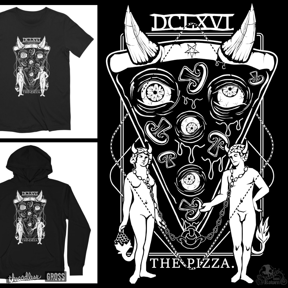 The Pizza, a cool t-shirt design