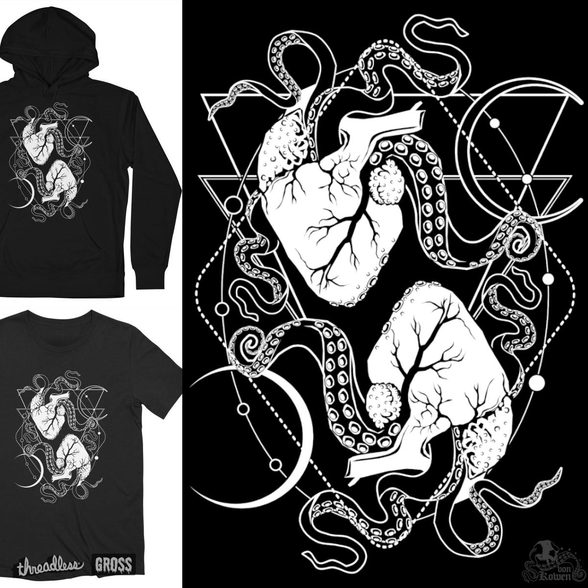 Monster Hearts, a cool t-shirt design