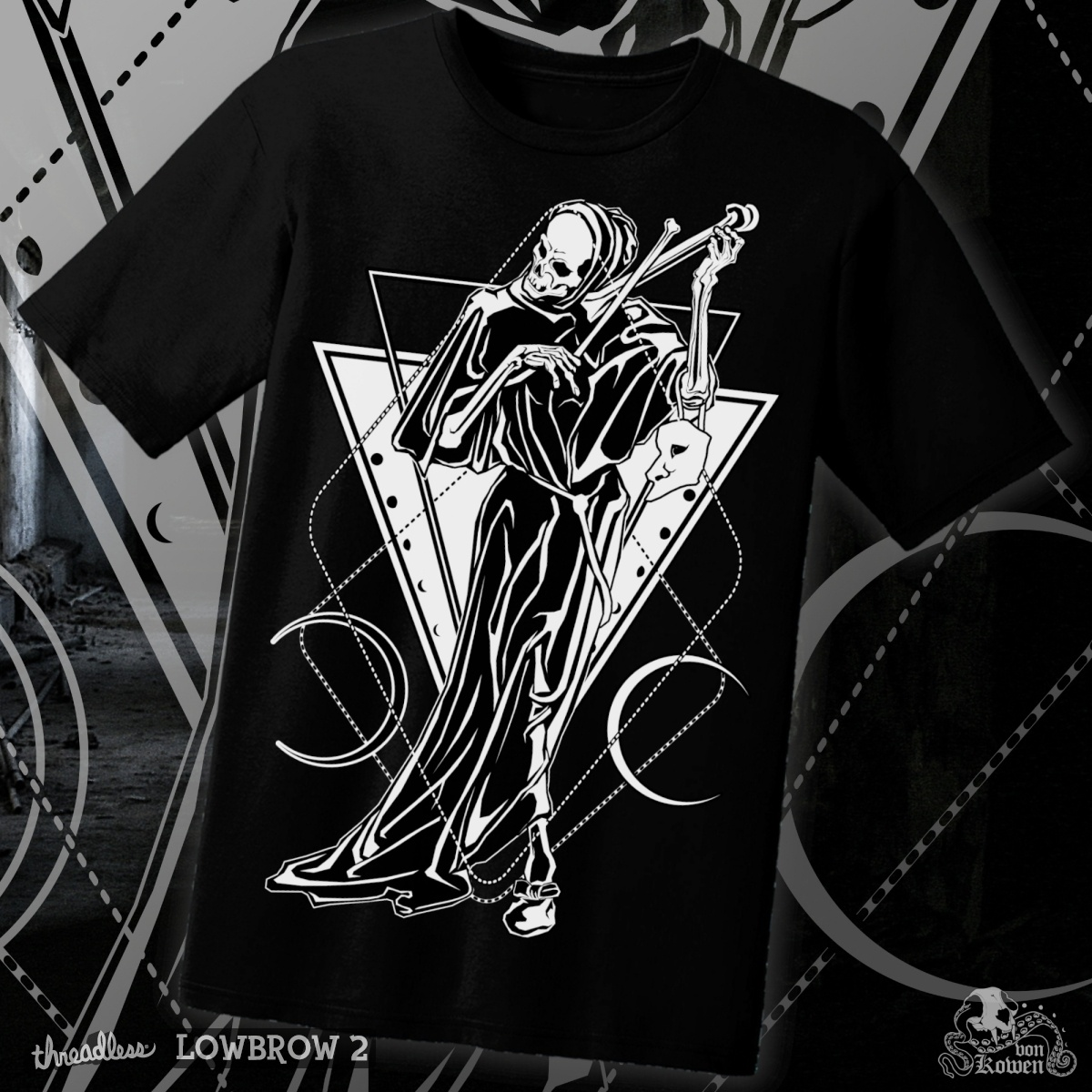 Death as a strangler, a cool t-shirt design