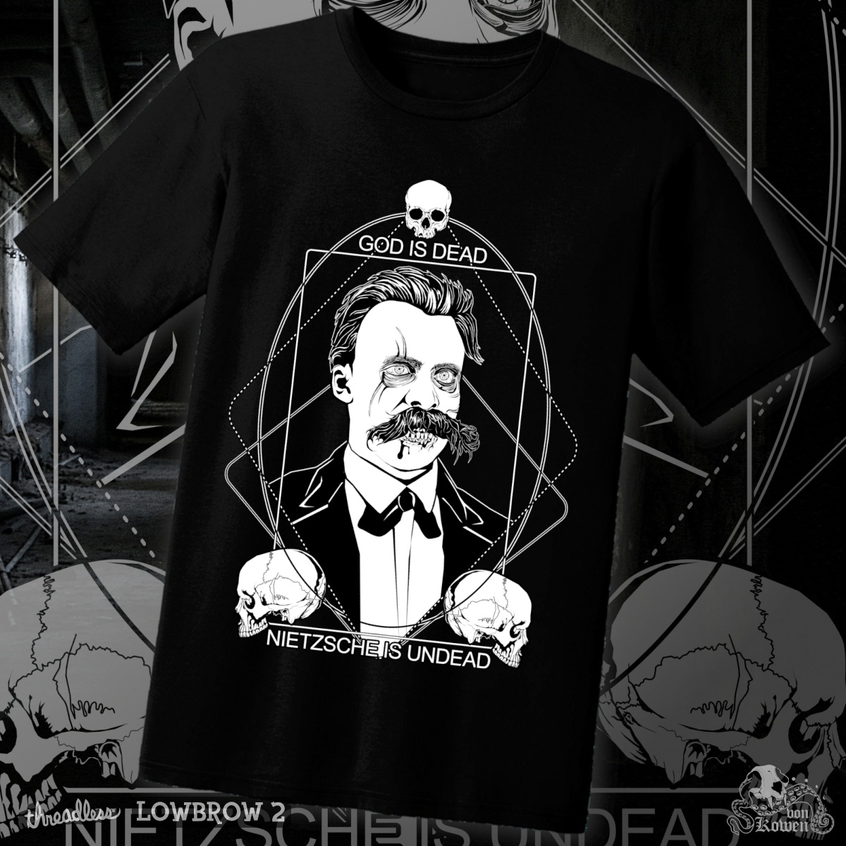Nietzsche Zombie, a cool t-shirt design