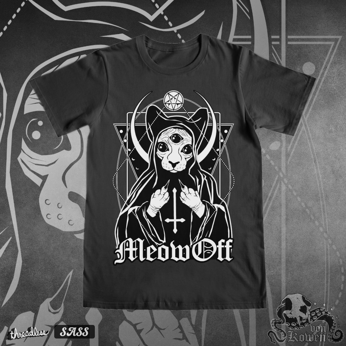 Meow off, a cool t-shirt design