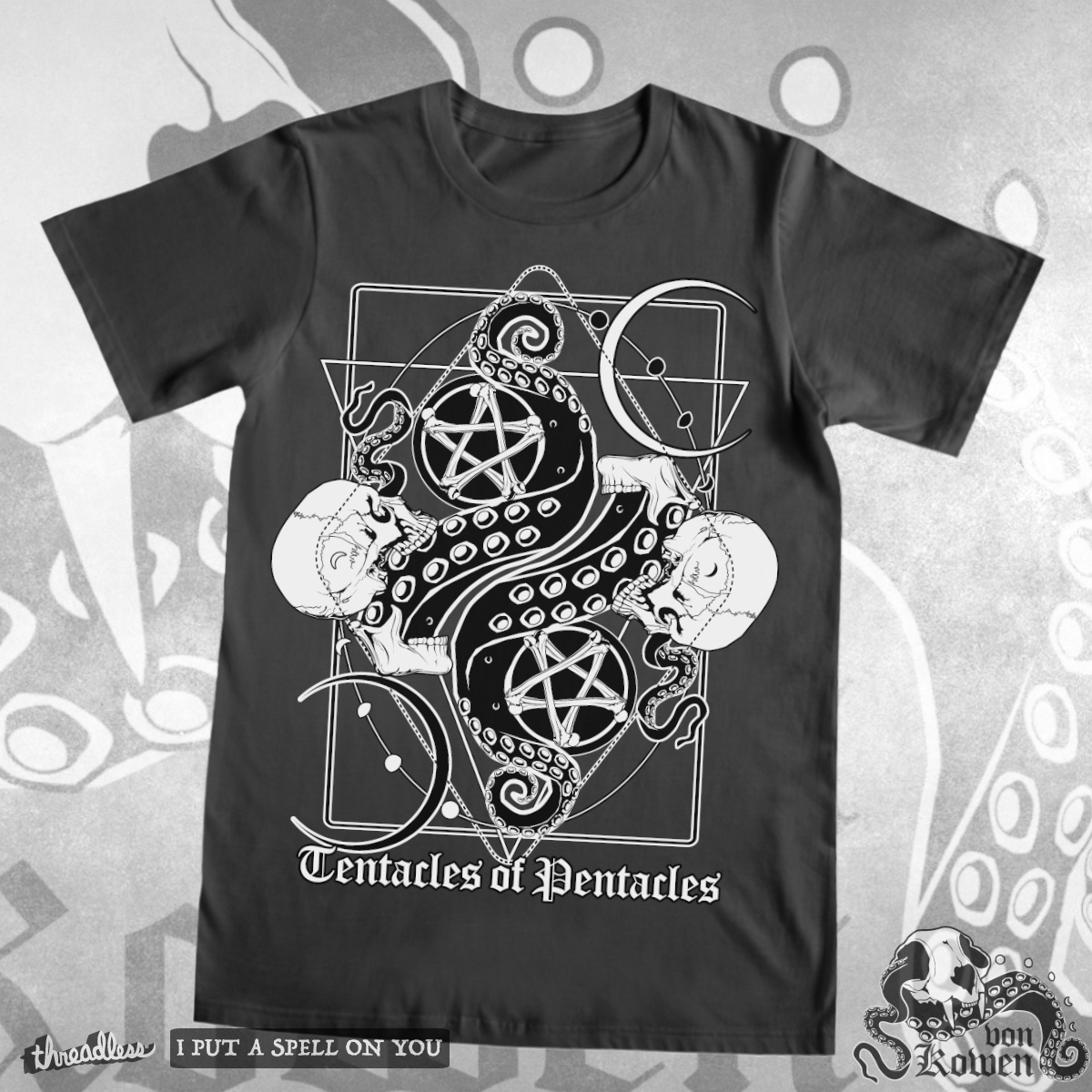 Tentacles of Pentacles, a cool t-shirt design