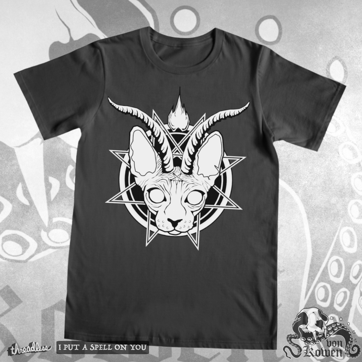 Baphocat, a cool t-shirt design