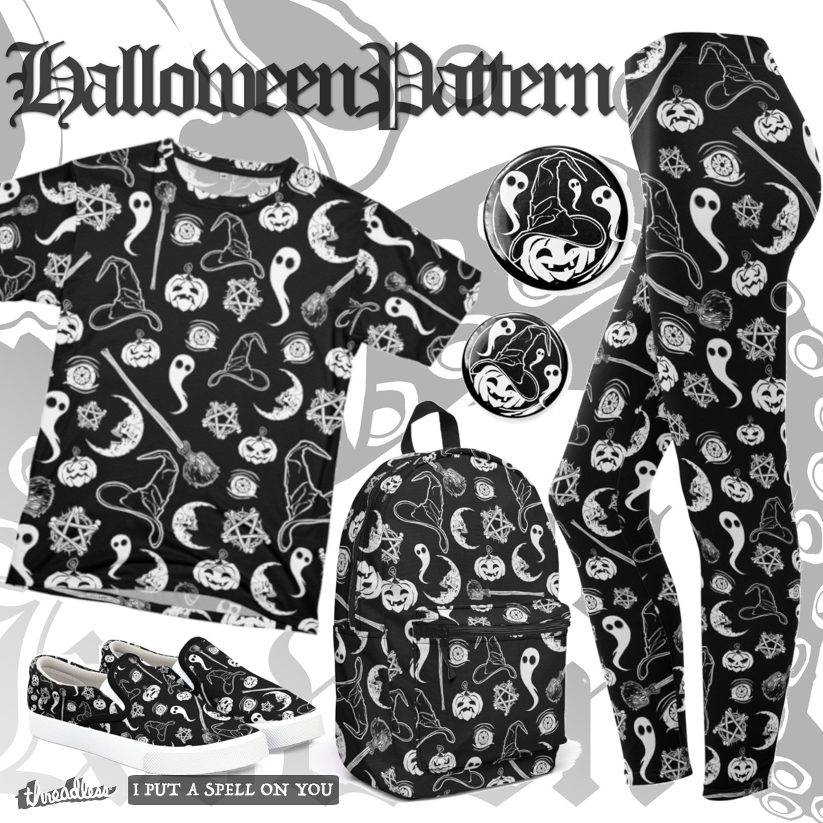 The Halloween Pattern, a cool t-shirt design
