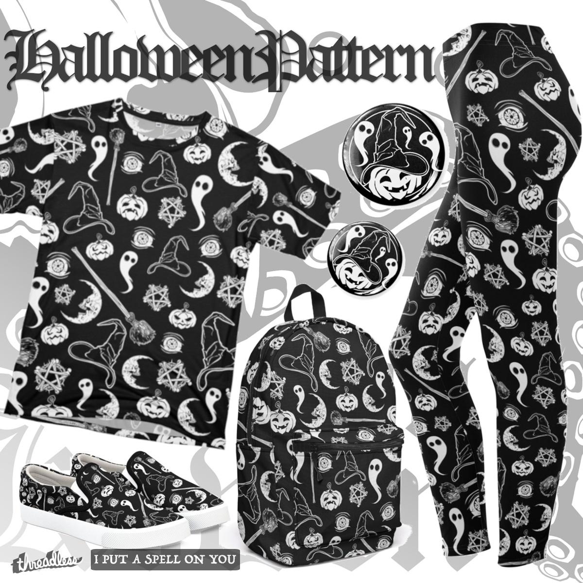 The Halloween Pattern, a cool t-shirt design