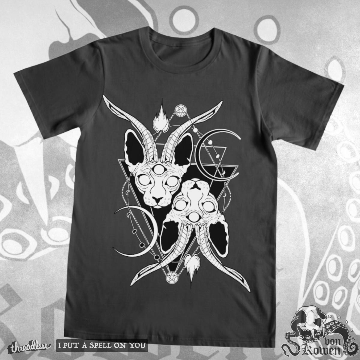 Baphocats, a cool t-shirt design