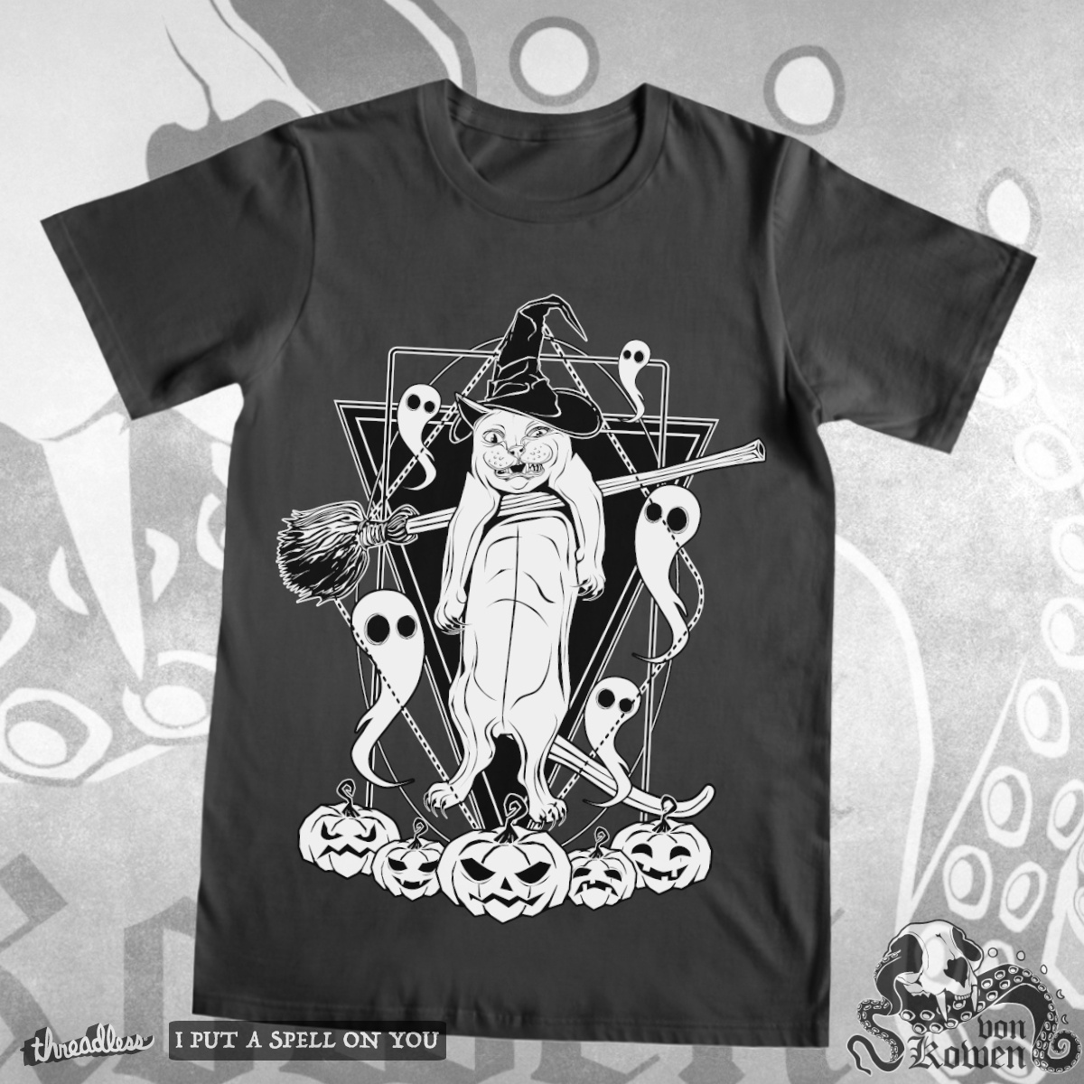 Witches cat, a cool t-shirt design